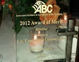 General Contractor - Associated Builders and Contractors of the Carolinas - Excellence in Construction Merit Award